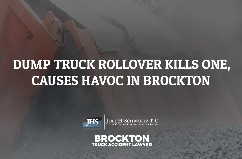 Dump Truck Rollover Kills One, Causes Chaos in Brockton