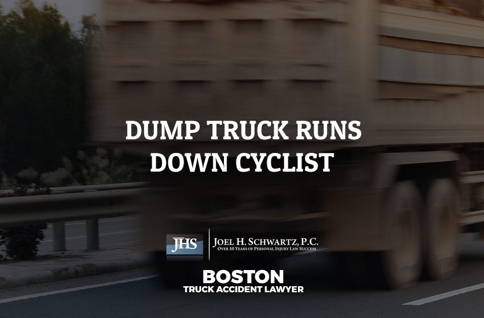 Dump Truck Runs Down Cyclist