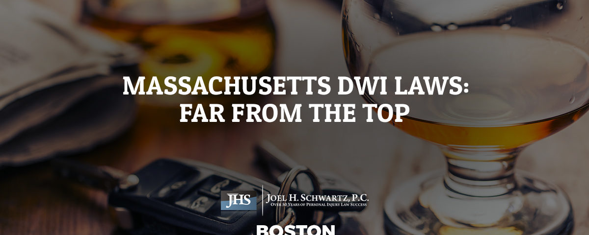 Massachusetts DWI Laws: Far from the Top