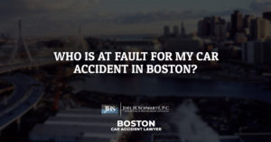 Who Is at Fault for My Car Accident in Boston?