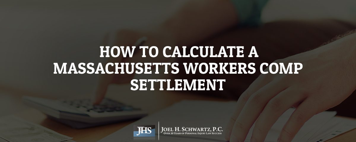 How to Calculate a Massachusetts Workers Comp Settlement